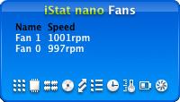 iStat nano displaying fan speed